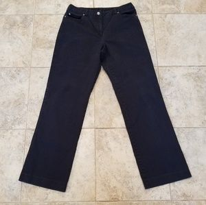 Rafaella Good Condition Black Straight Leg Pants
